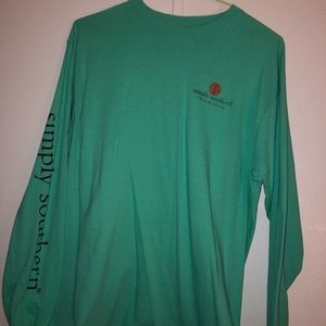 teal long sleeved simply southern christmas shirt